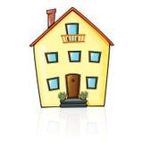 Hus med reflexion royaltyfri illustrationer