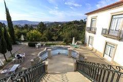 Hus med trappuppgången och terrassen Royaltyfri Bild