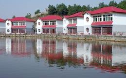 Hus near vatten Arkivbilder
