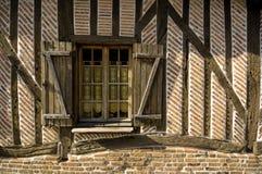 hus normandy Arkivfoto