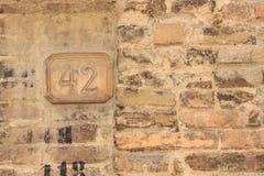 Hus nummer 42 Arkivfoto