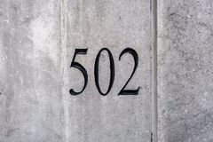 Hus nummer 502 arkivbilder