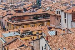 Hus och arkitektur av den historiska mitten av Mantua, Ital arkivfoton