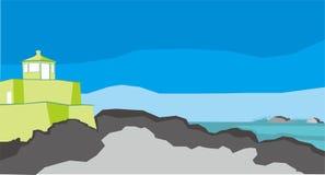 Hus och hav Arkivfoton