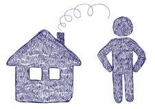 Hus- och mansymboler Fotografering för Bildbyråer