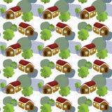 Hus och treesmodell Royaltyfri Foto