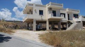 Hus på ön av Kreta Royaltyfria Foton