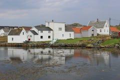 Hus på ön Utsira, Norge Arkivfoto