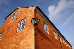 Hus på den Kronborg slotten Royaltyfri Foto