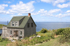 Hus på den Monhegan ön Arkivbild