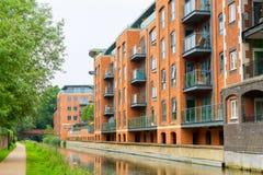 Hus på den Oxford kanalen. Oxford UK Fotografering för Bildbyråer