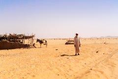 Hus på den Sahara öknen Royaltyfria Foton