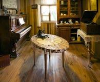 Hus på det tyska museet på Frutillar, Chile Arkivbild