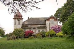 Hus på det tyska museet på Frutillar, Chile Royaltyfri Bild