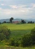 hus på en bergstopp Royaltyfri Bild