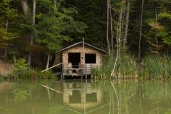 Hus på ett damm Royaltyfri Bild