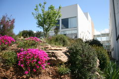 Hus på klippan i Mondim de Basto, Portugal Arkivbild