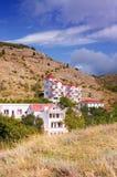 Hus på kullarna Royaltyfria Bilder