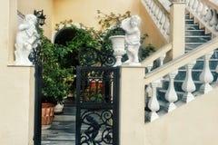 Hus på Santorini arkivfoto