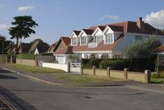 Hus på Selsey. Västra Sussex. UK arkivbilder