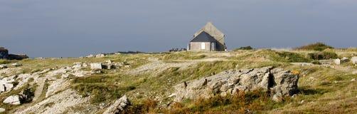 Hus på stranden Arkivfoton