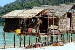 Hus på Surin öar, Thailand Royaltyfri Fotografi