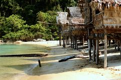 Hus på Surin öar, Thailand Royaltyfria Foton