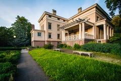 Hus på universitetsområdet av Yale University, i New Haven, Connecticu Royaltyfria Bilder