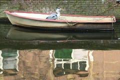 Hus på vattnet Arkivfoto