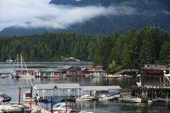 Hus på vattnet - Victoria - F. KR. - Kanada Fotografering för Bildbyråer