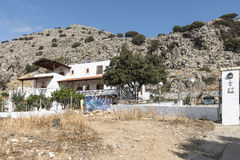 Hus på Rhodes Royaltyfri Foto