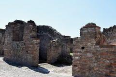 Hus Pompeii arkeologisk plats, nr Mount Vesuvius, Italien Arkivbild