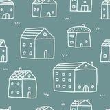 Hus sömlös modell för vektor royaltyfri illustrationer