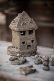 Hus som göras av lera Royaltyfri Fotografi