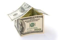 Hus som göras av US dollar Arkivfoton