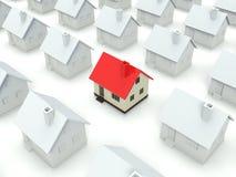 Hus som isoleras på vit Arkivfoton