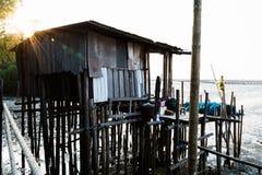 Hus som lokaliseras på havet Arkivfoton