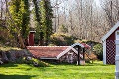 hus som skiner liten sunvinter Royaltyfria Foton