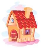 hus som skiner liten sunvinter royaltyfri illustrationer