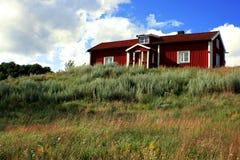 hus sweden Arkivfoton