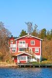 hus sweden Arkivfoto