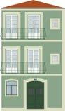 hus tipycal lisbon royaltyfri illustrationer