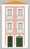 hus tipycal lisbon vektor illustrationer