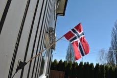 Hus-trädgård i Norge royaltyfri fotografi