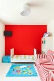 Hus trevligt sovrum Arkivbild