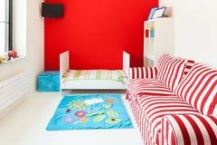 Hus trevligt sovrum Royaltyfri Fotografi