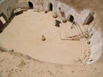 hus tunisia Arkivfoton