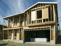 Hus under konstruktion arkivfoton