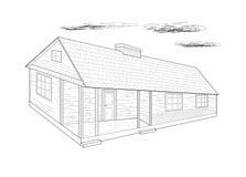 Hus - vektorillustration. Royaltyfri Bild
