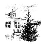 Hus vektorillustration Arkivbilder